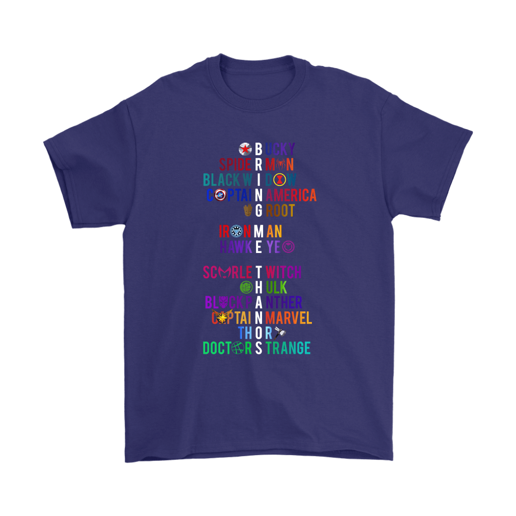 The Avengers Characters Name And Symbol Bring Me Thanos Shirts 4