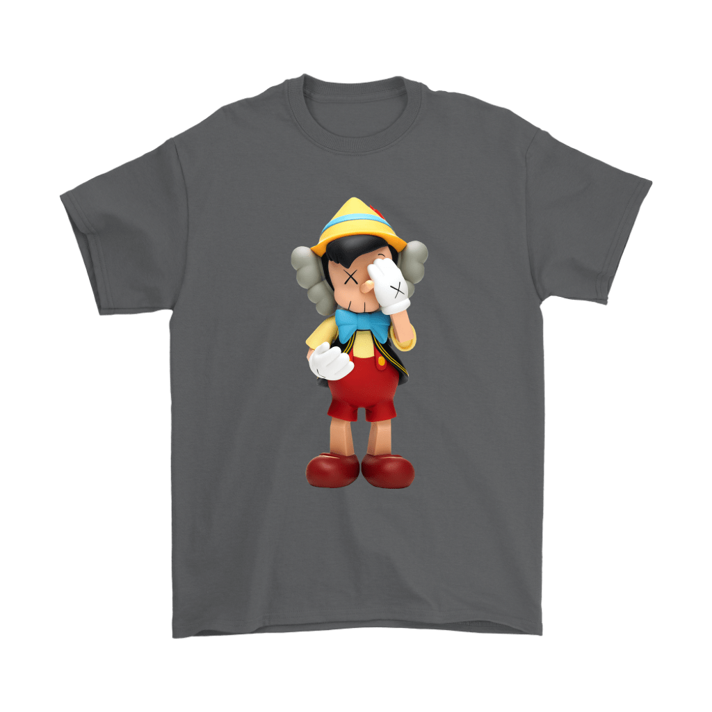 Pinocchio KAWS Touchs His Face Shirts 2