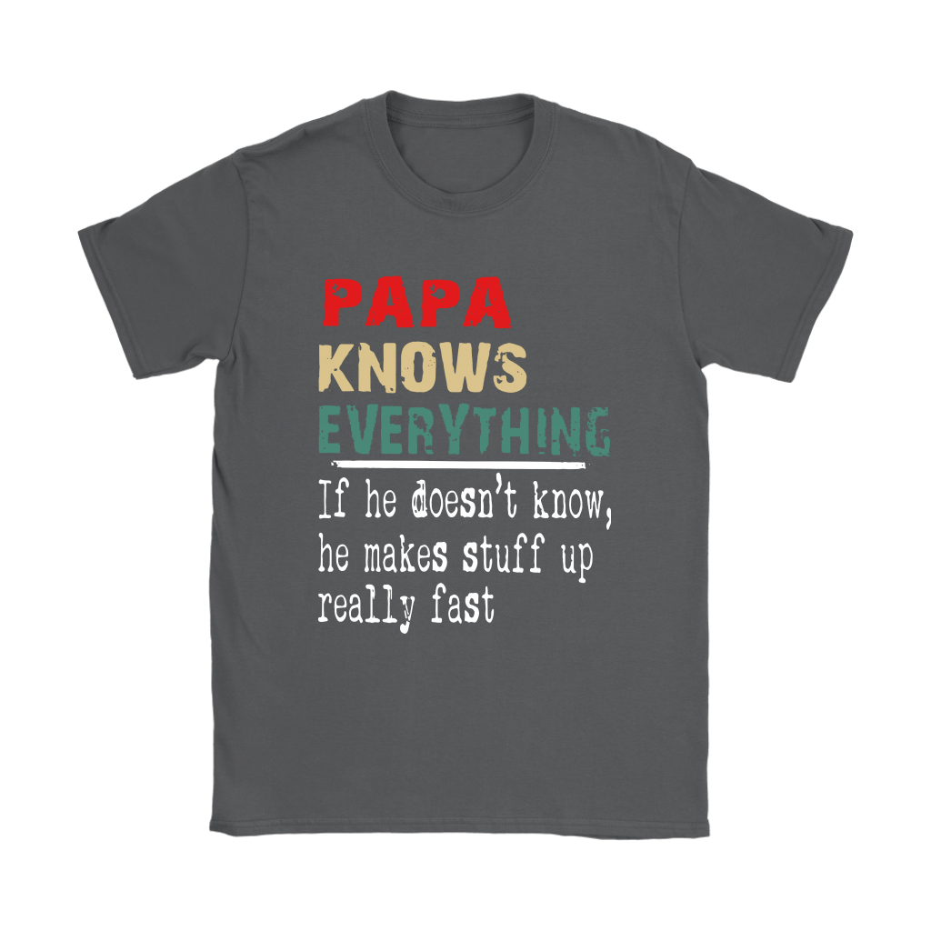 Papa Know Everything If Not He Makes Stuff Up Really Fast Shirts 7