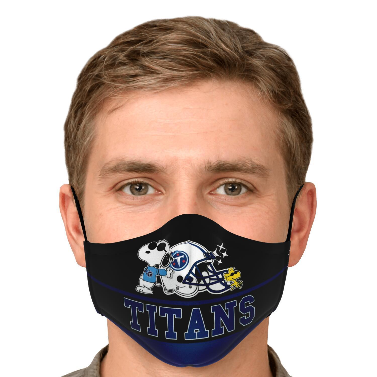 Snoopy Joe Cool Tennessee Titans Face Mask 4