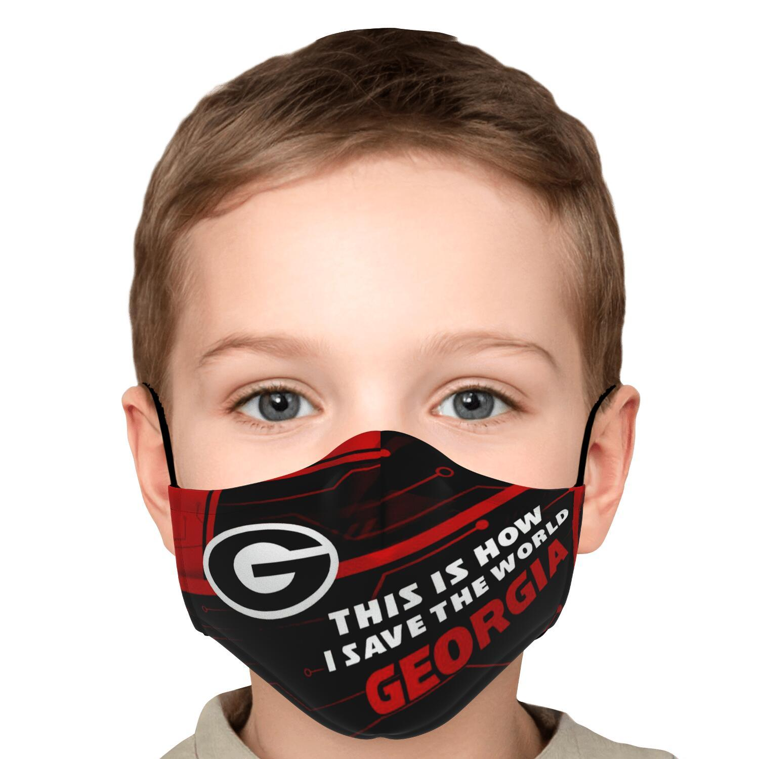 This Is How I Save The World Georgia Bulldogs Face Masks 5