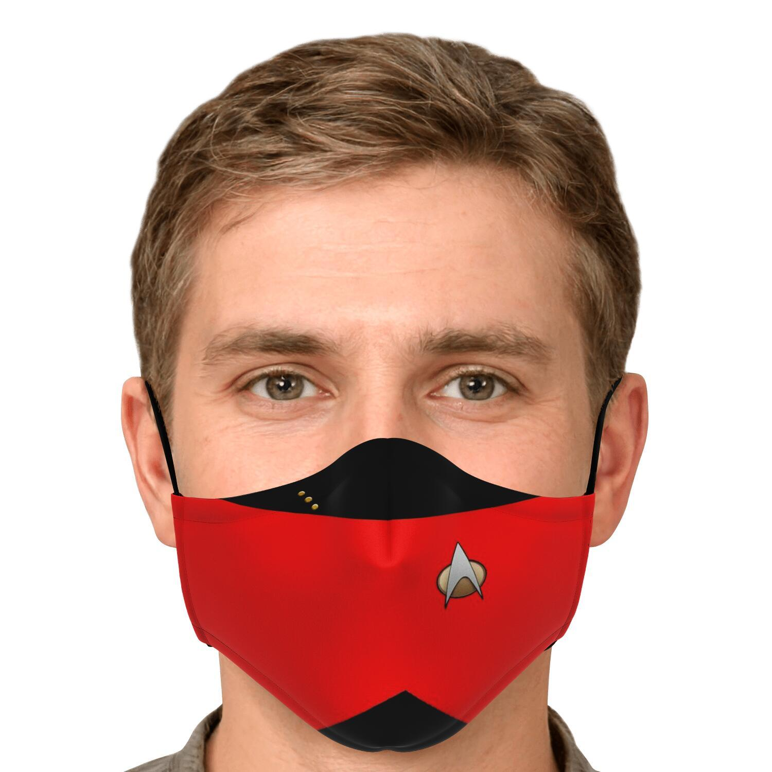 Star Trek Red Shirt Face Mask 4