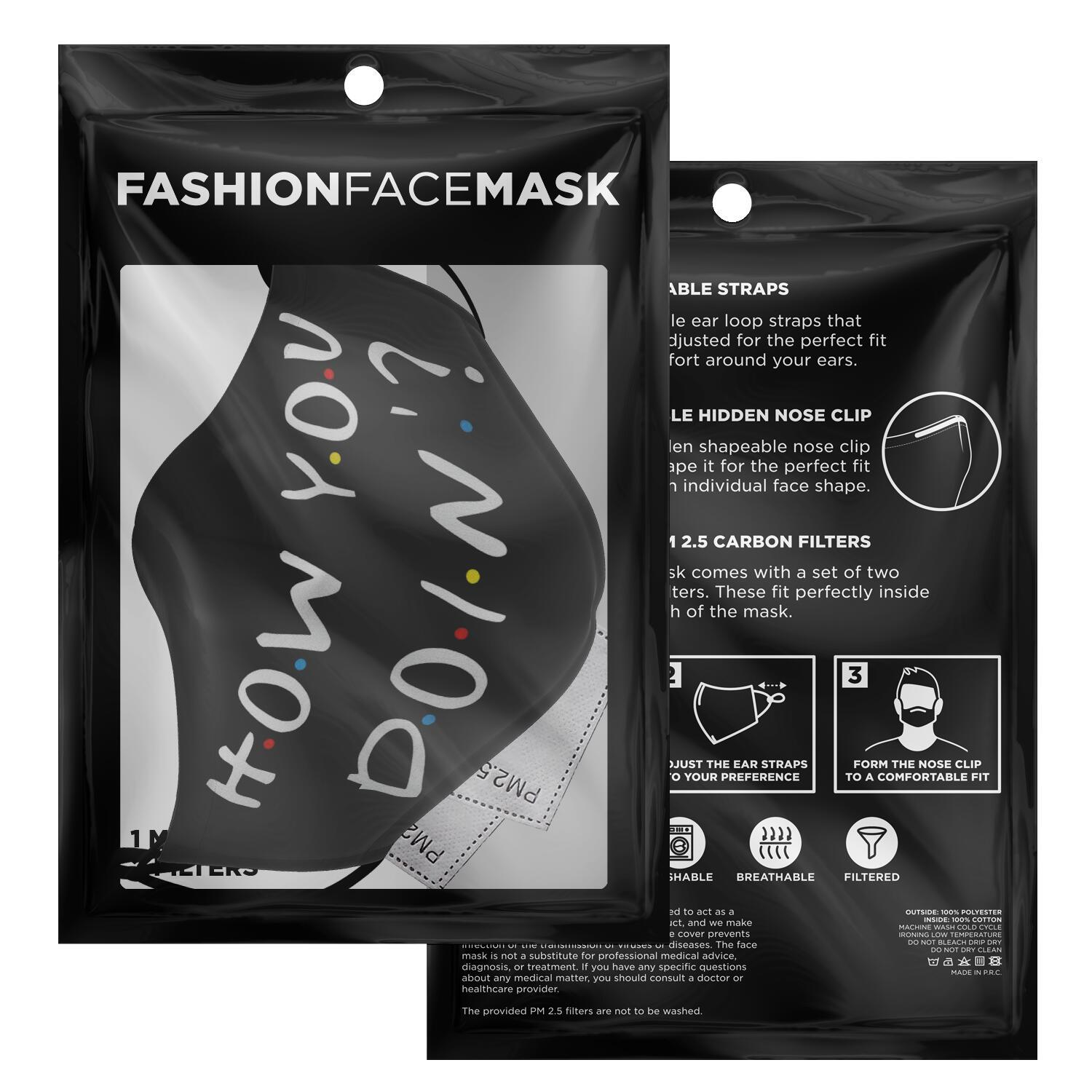 How You Doin'? Joey F.R.I.E.N.D.S Face Mask 2