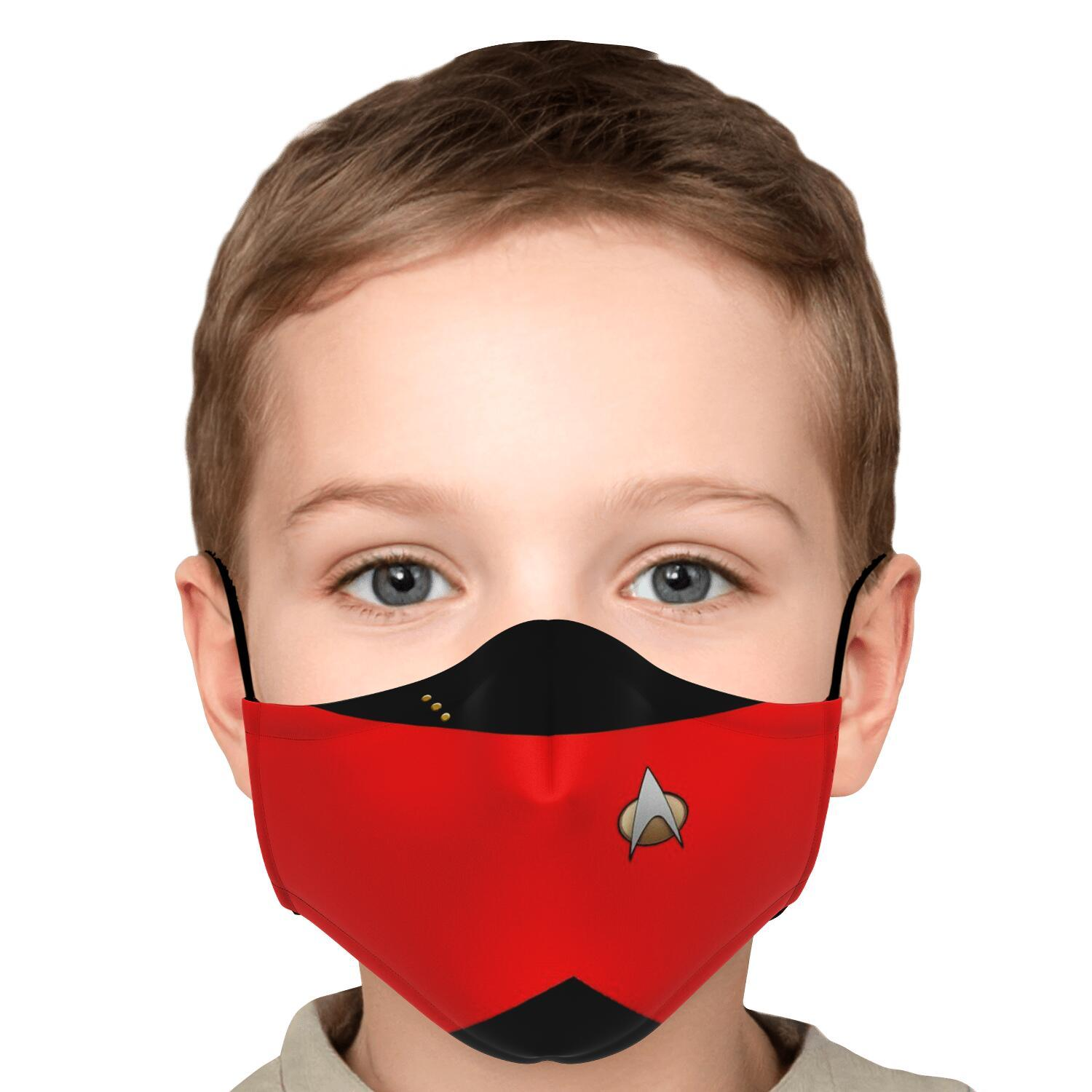 Star Trek Red Shirt Face Mask 5