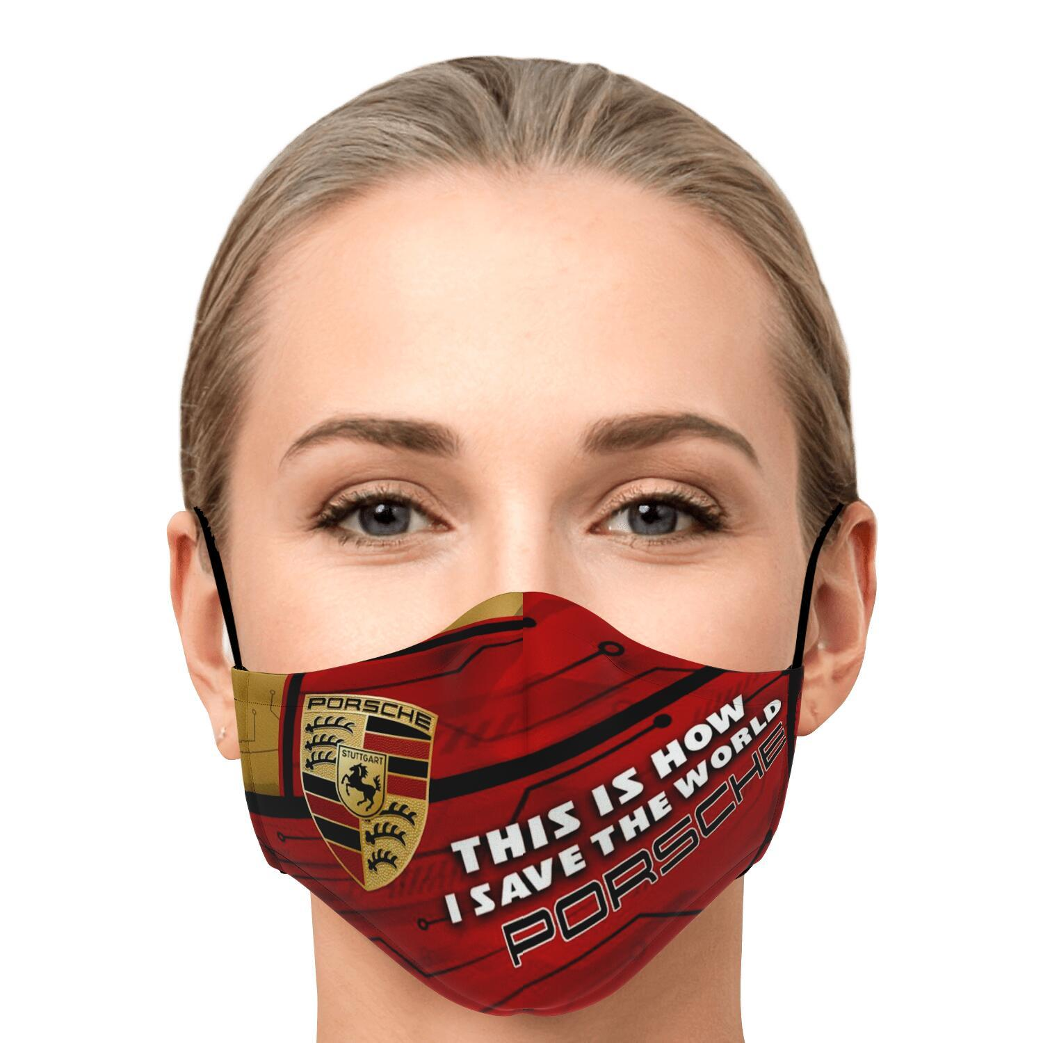 This Is How I Save The World Porsche Face Masks 1
