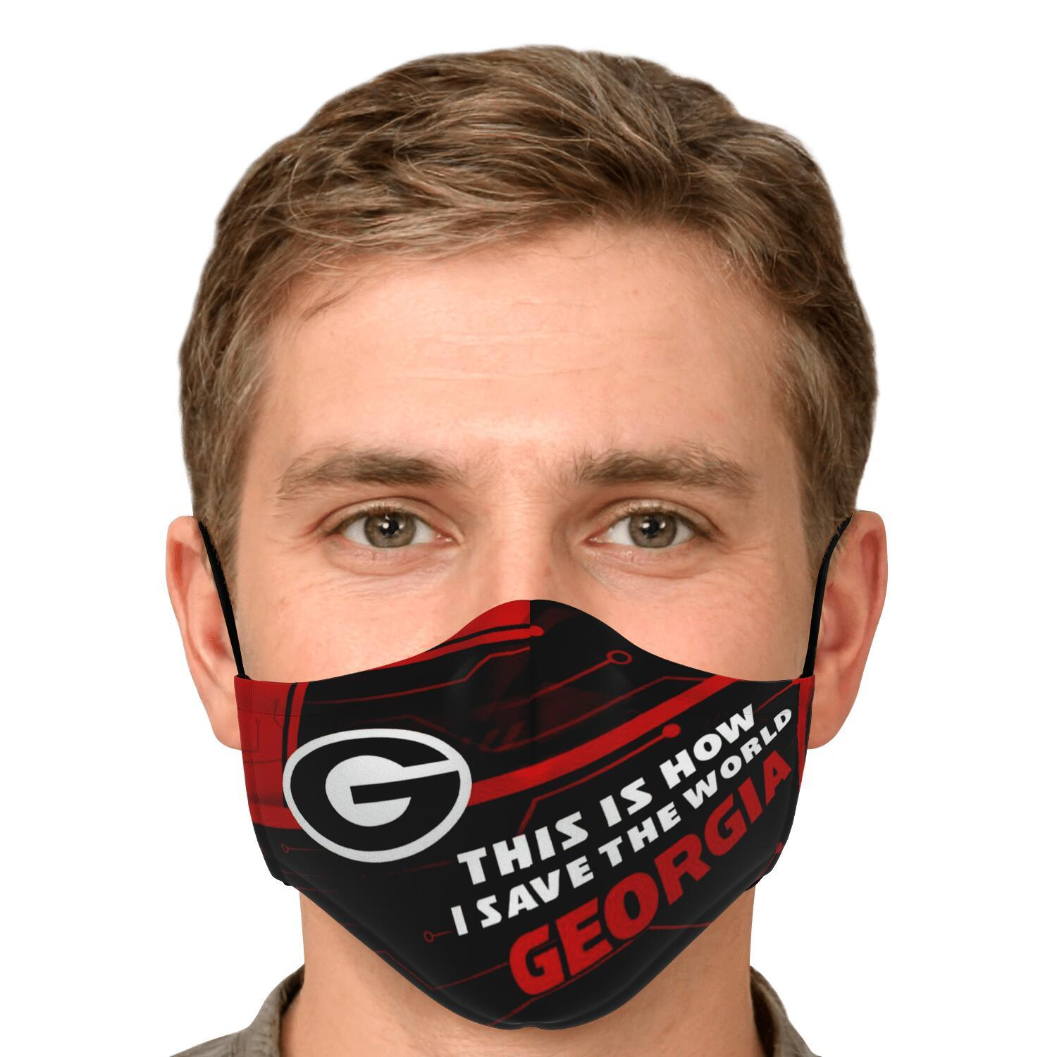 This Is How I Save The World Georgia Bulldogs Face Masks 4