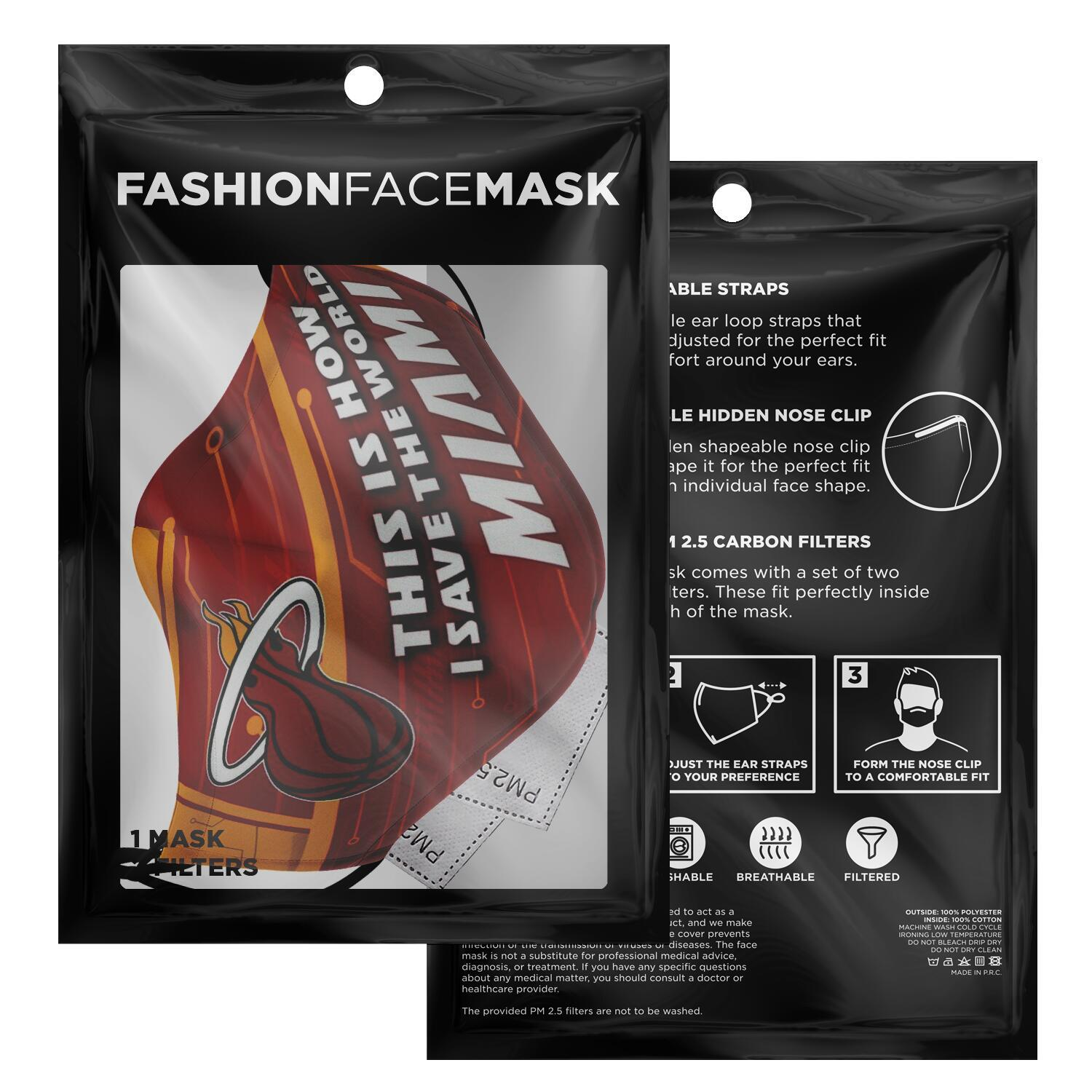 This Is How I Save The World Miami Heat Face Masks Nfl T Shirts Store