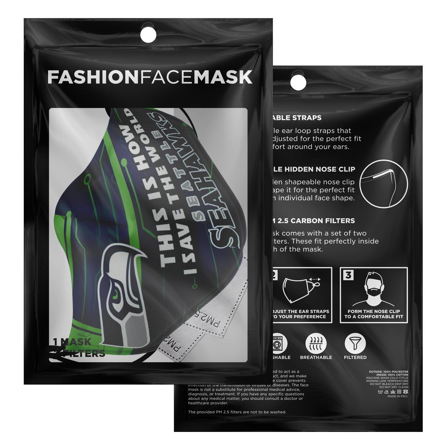 This Is How I Save The World Seattle Seahawks Face Masks 2