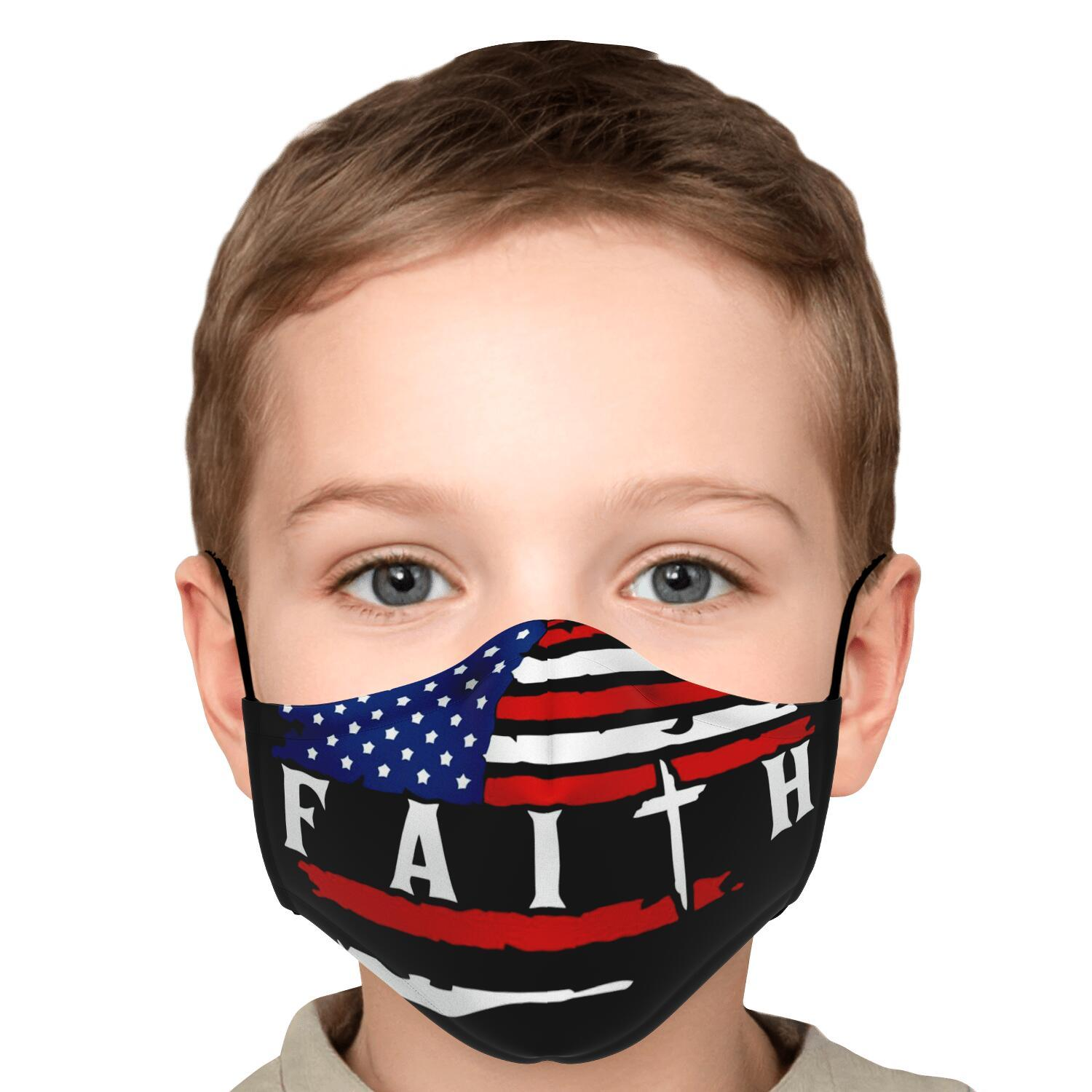 American Flag Faith Face Mask 5