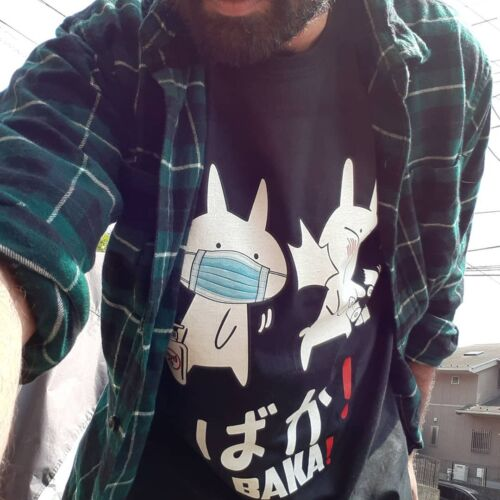 Anime Baka Rabbit Slap Mask Stay Safe Covid-19 Shirts photo review