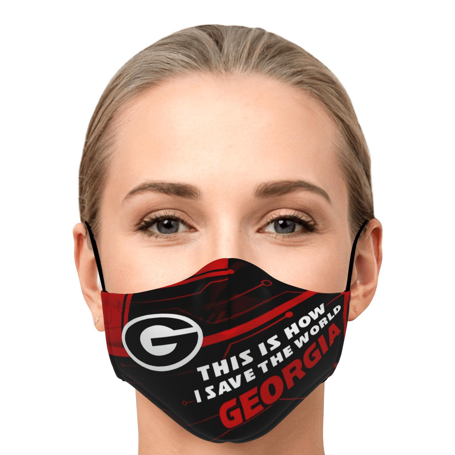This Is How I Save The World Georgia Bulldogs Face Masks 1
