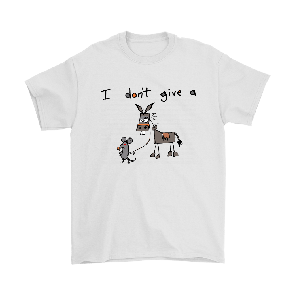 I Don't Give A Mouse Walking A Donkey Shirts 1