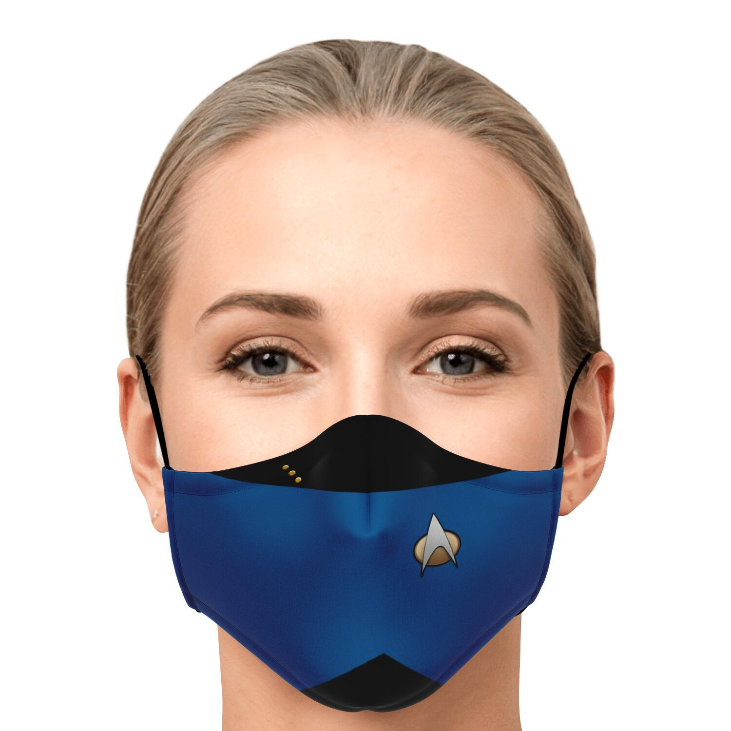 Star Trek Blue Shirt Face Mask 1