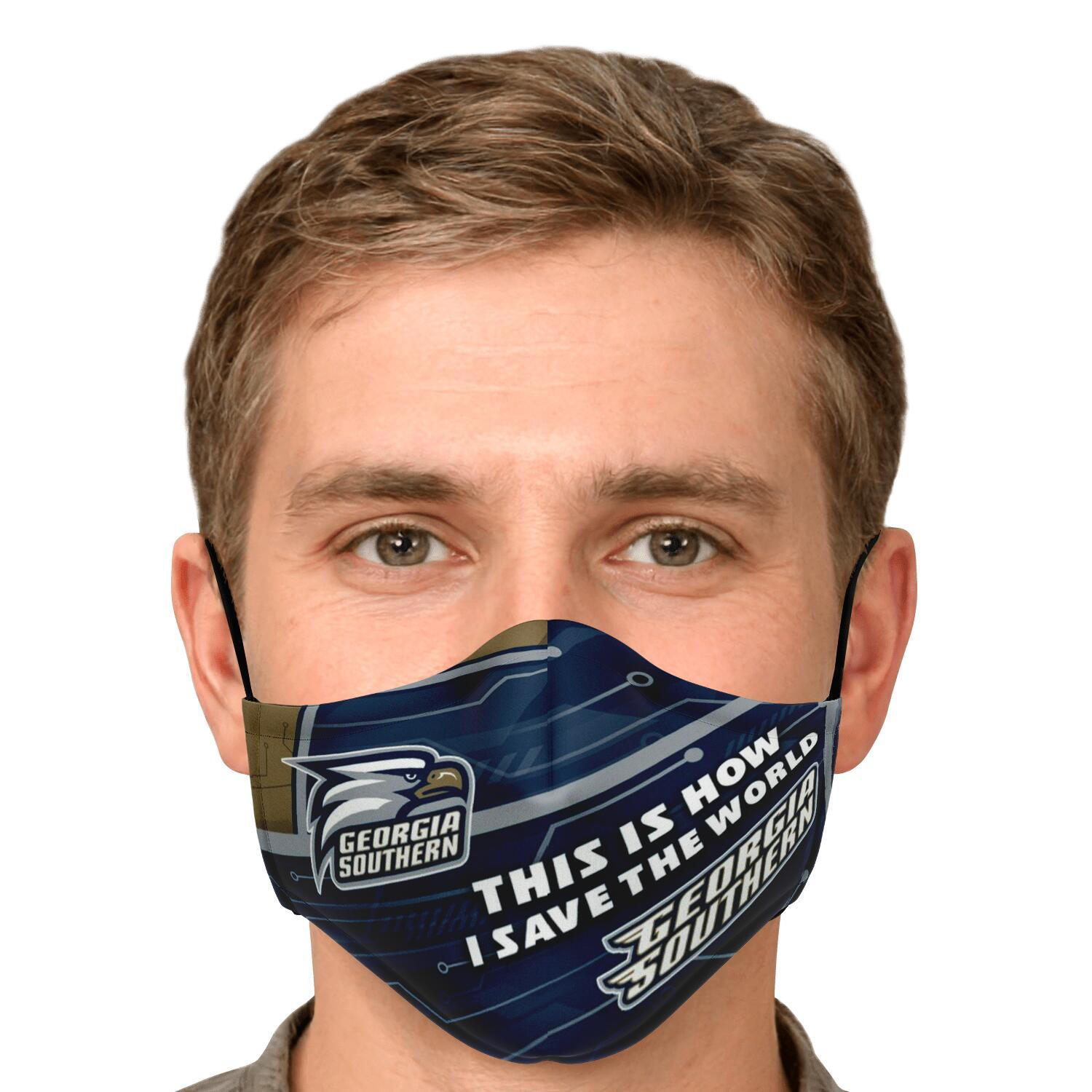 This Is How I Save The World Georgia Southern Eagles Face Masks 4