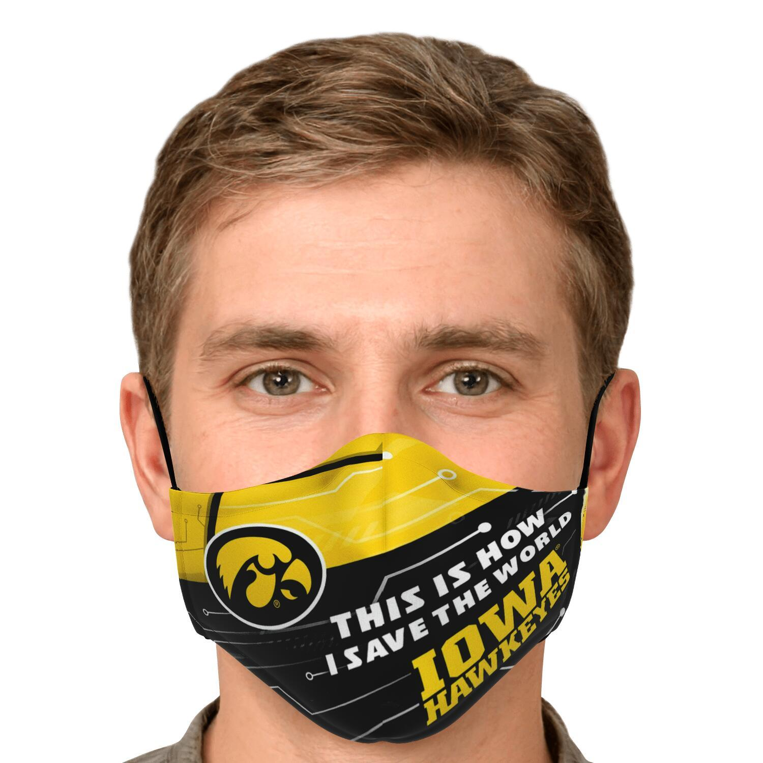 This Is How I Save The World Iowa Hawkeyes Face Masks 4