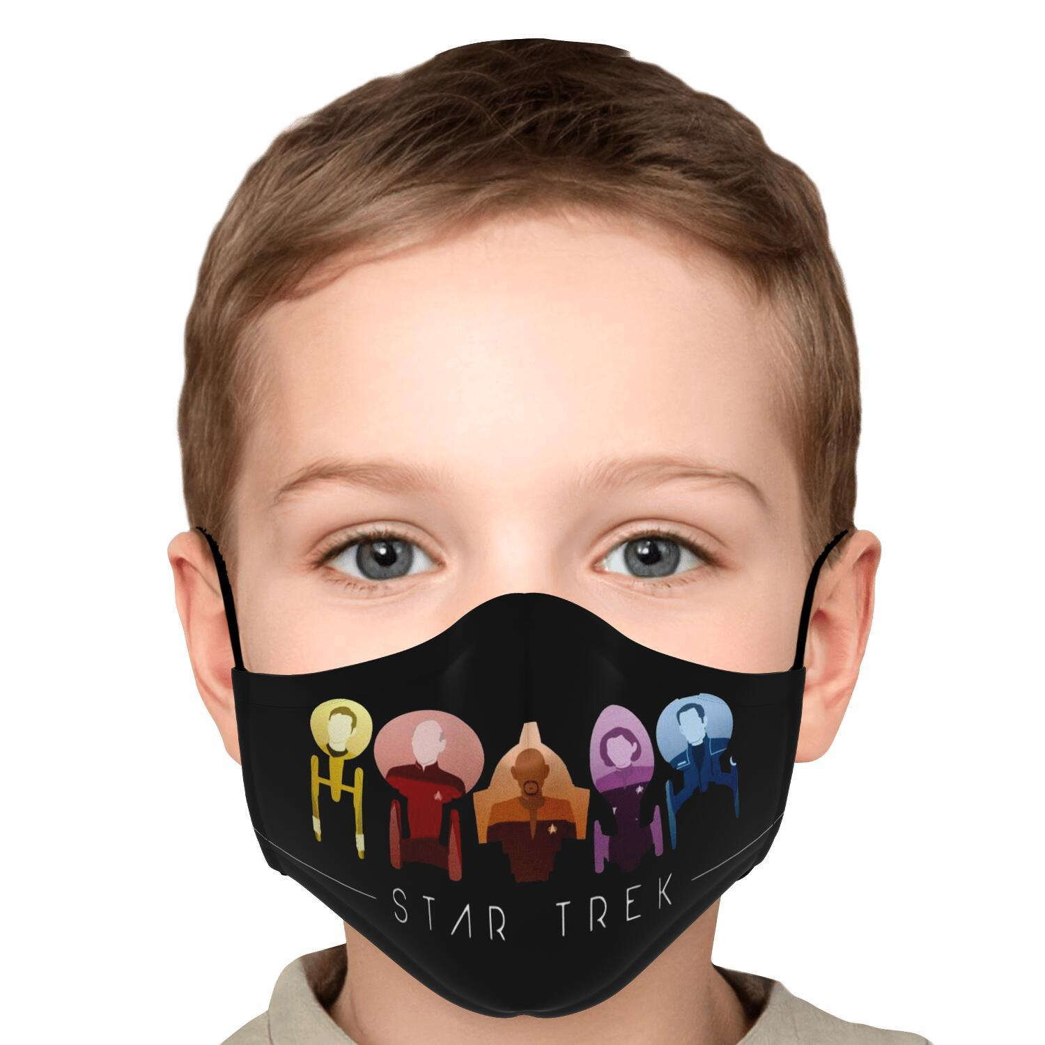 Starfleet Captains Star Trek Face Mask 5