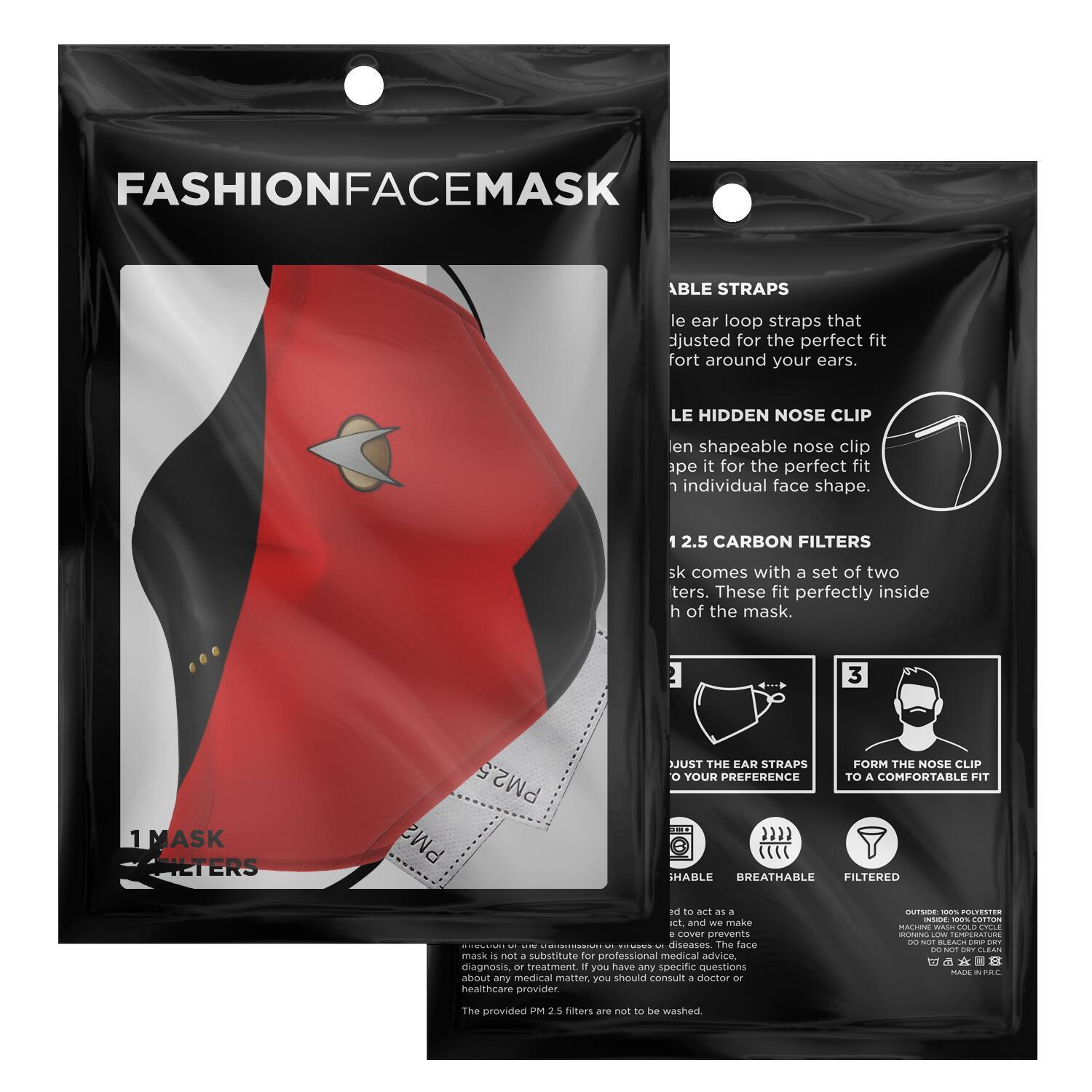 Star Trek Red Shirt Face Mask 2