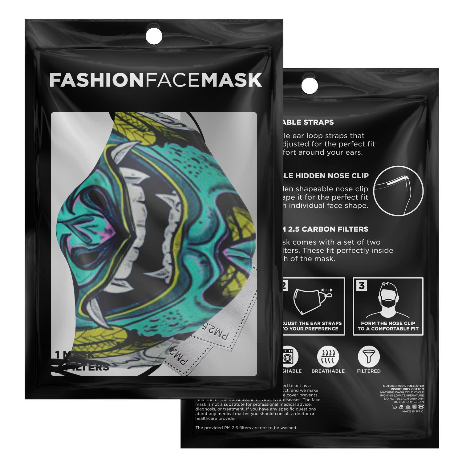 Samurai Demon Face Mask 2