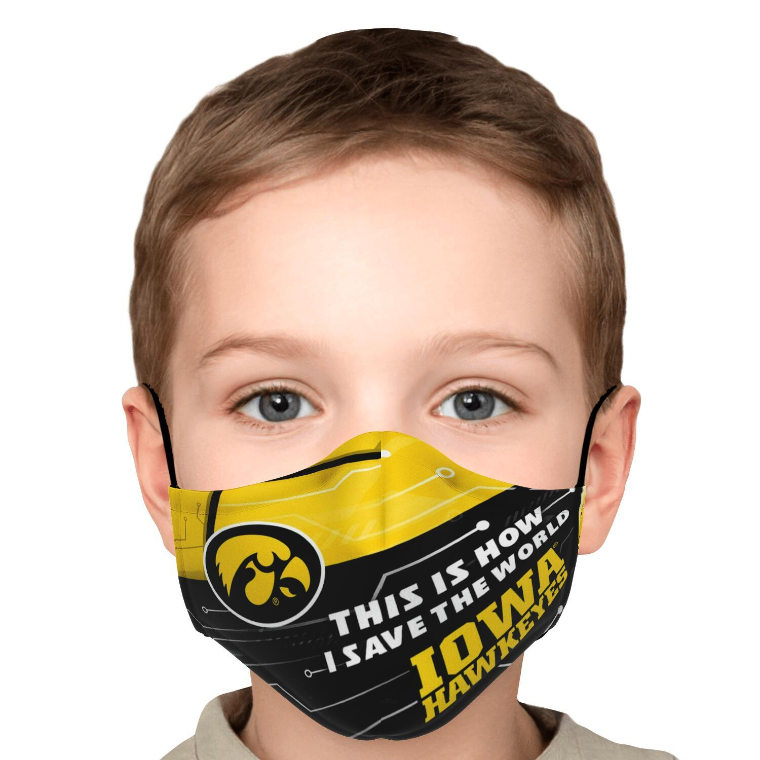 This Is How I Save The World Iowa Hawkeyes Face Masks 5