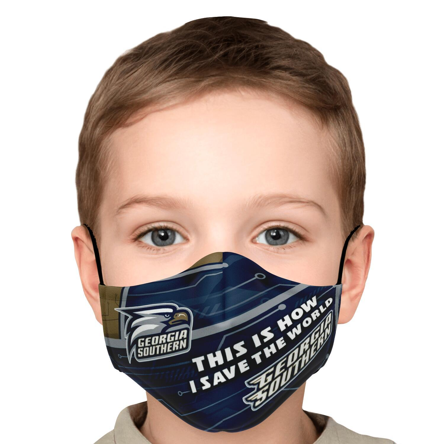 This Is How I Save The World Georgia Southern Eagles Face Masks 5