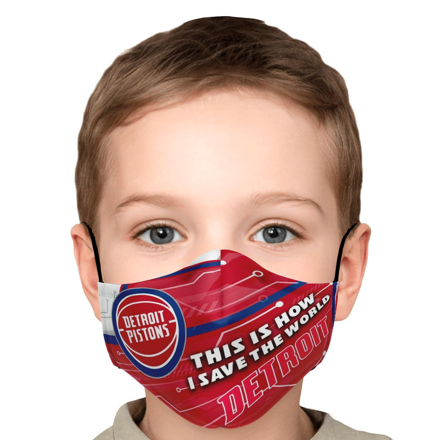 This Is How I Save The World Detroit Pistons Face Masks 5