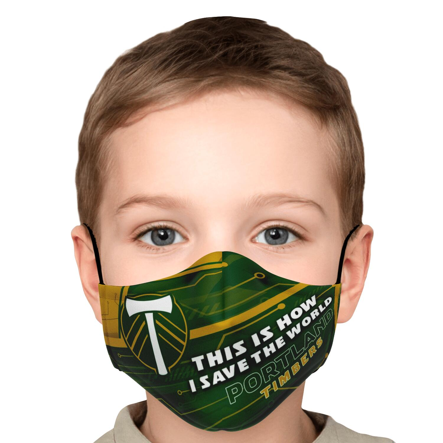 This Is How I Save The World Portland Timbers Face Masks 5