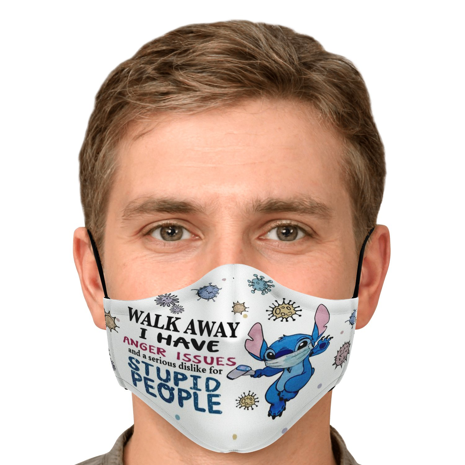 Serious Dislike For Stupid People Covid-19 Stitch Face Mask 5
