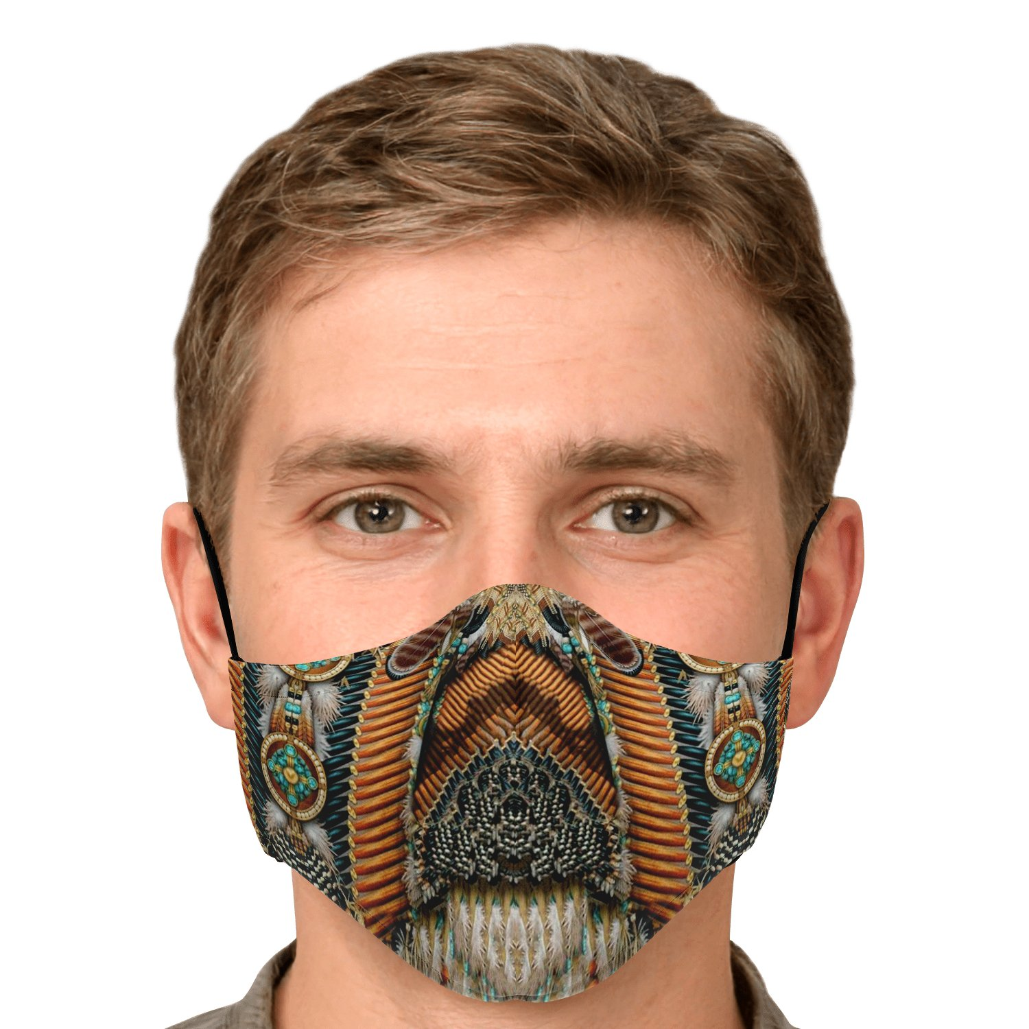 Land Of Peace Native American Face Mask 5