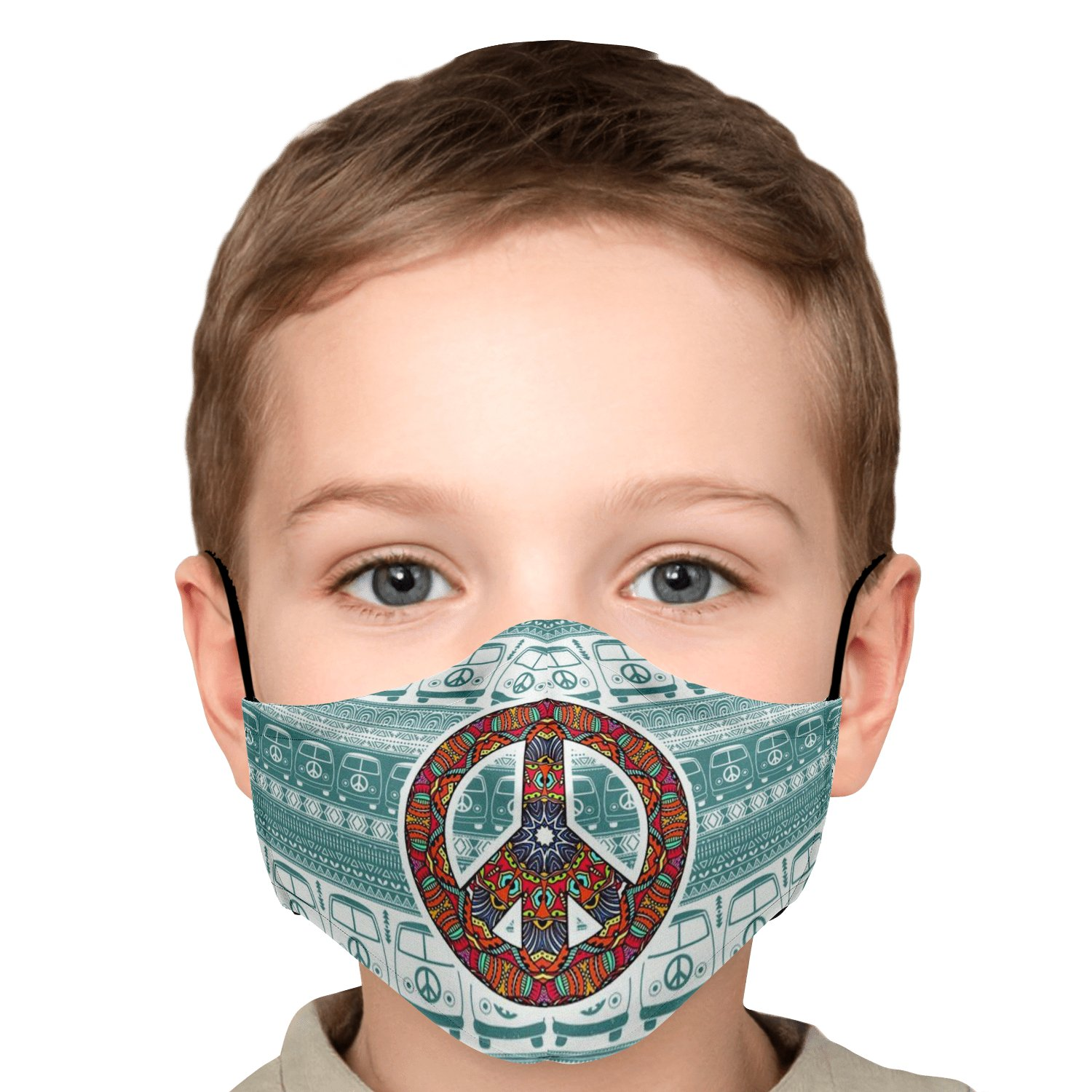 Hippie Van Volkswagen Peace And Love Face Mask 12