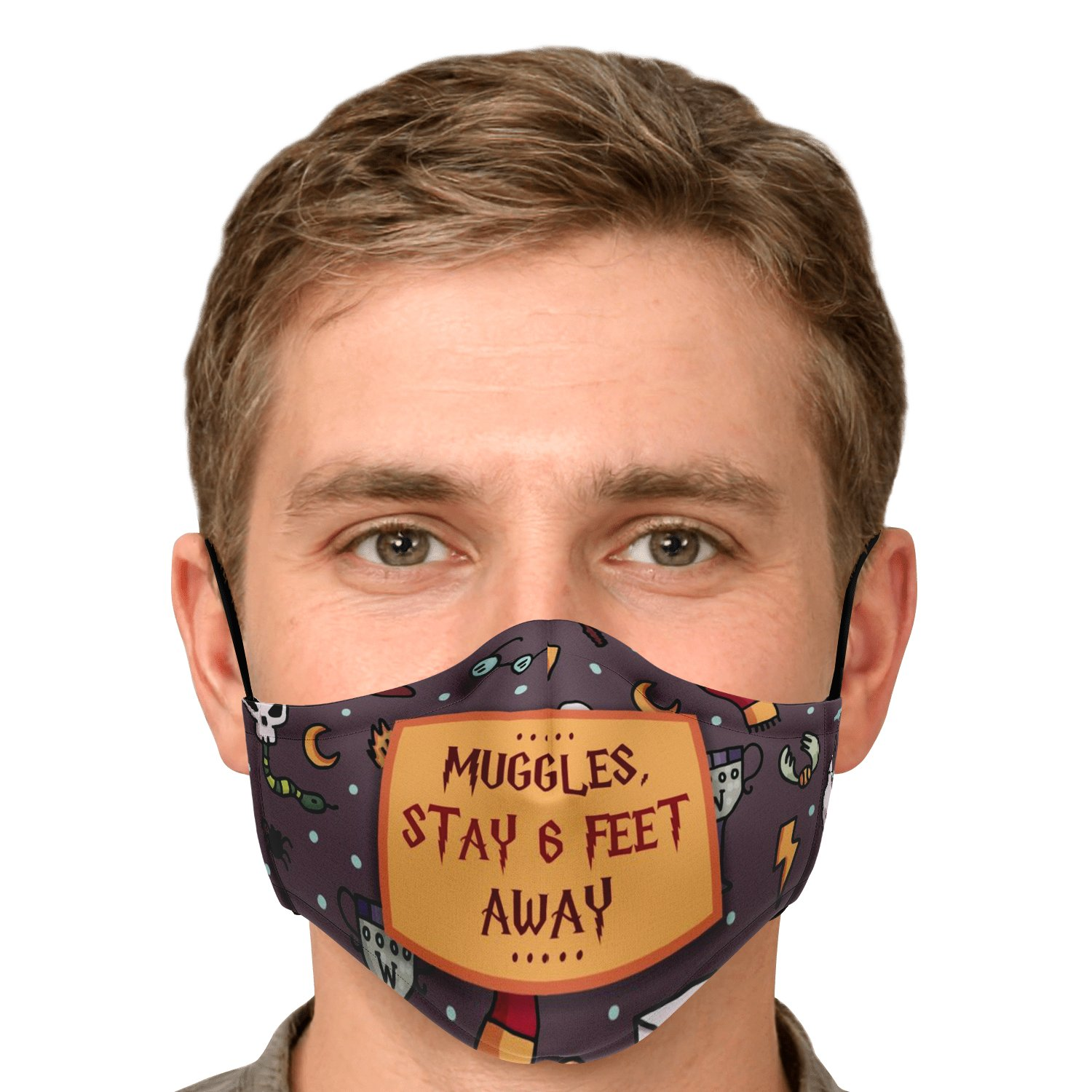 Muggles Stay 6 Feet Away Harry Potter Face Mask 5