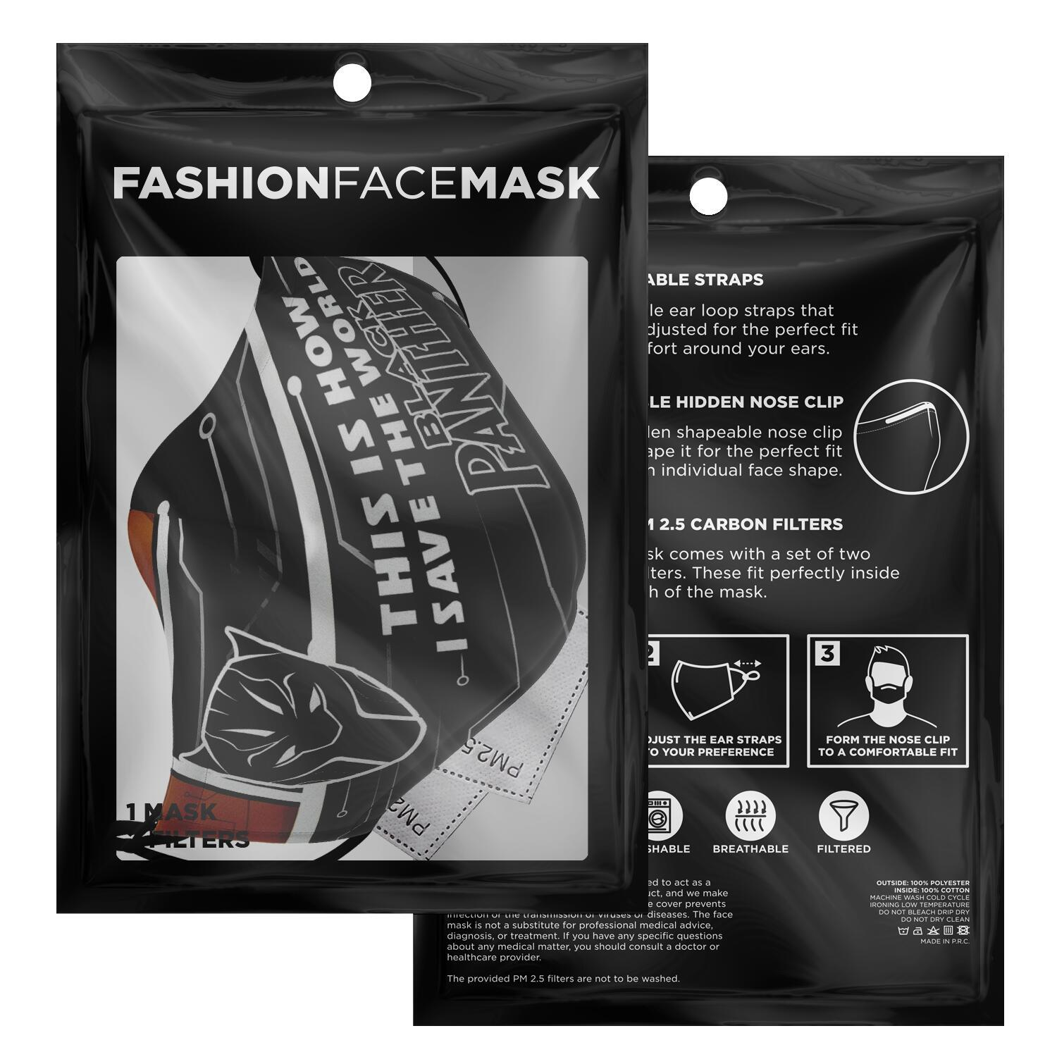 This Is How I Save The World Black Panther Face Masks 2
