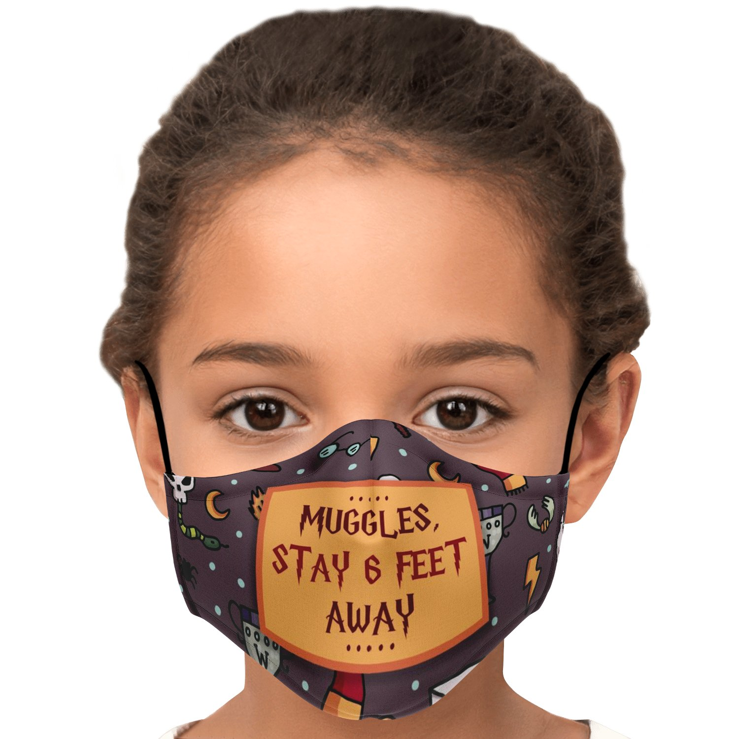 Muggles Stay 6 Feet Away Harry Potter Face Mask 7