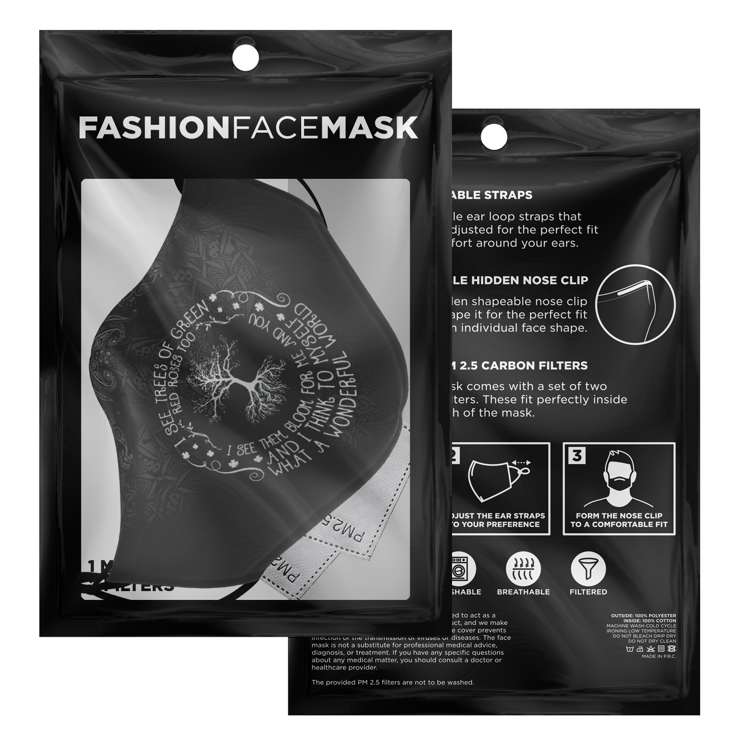 What A Wonderful World Louis Armstrong Face Mask 3