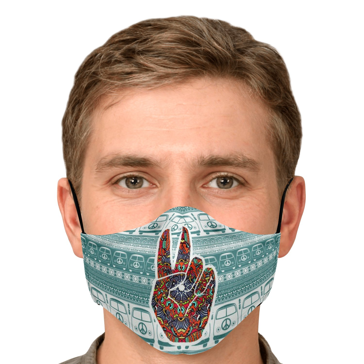 Hippe Van Peace And Love Face Mask 5