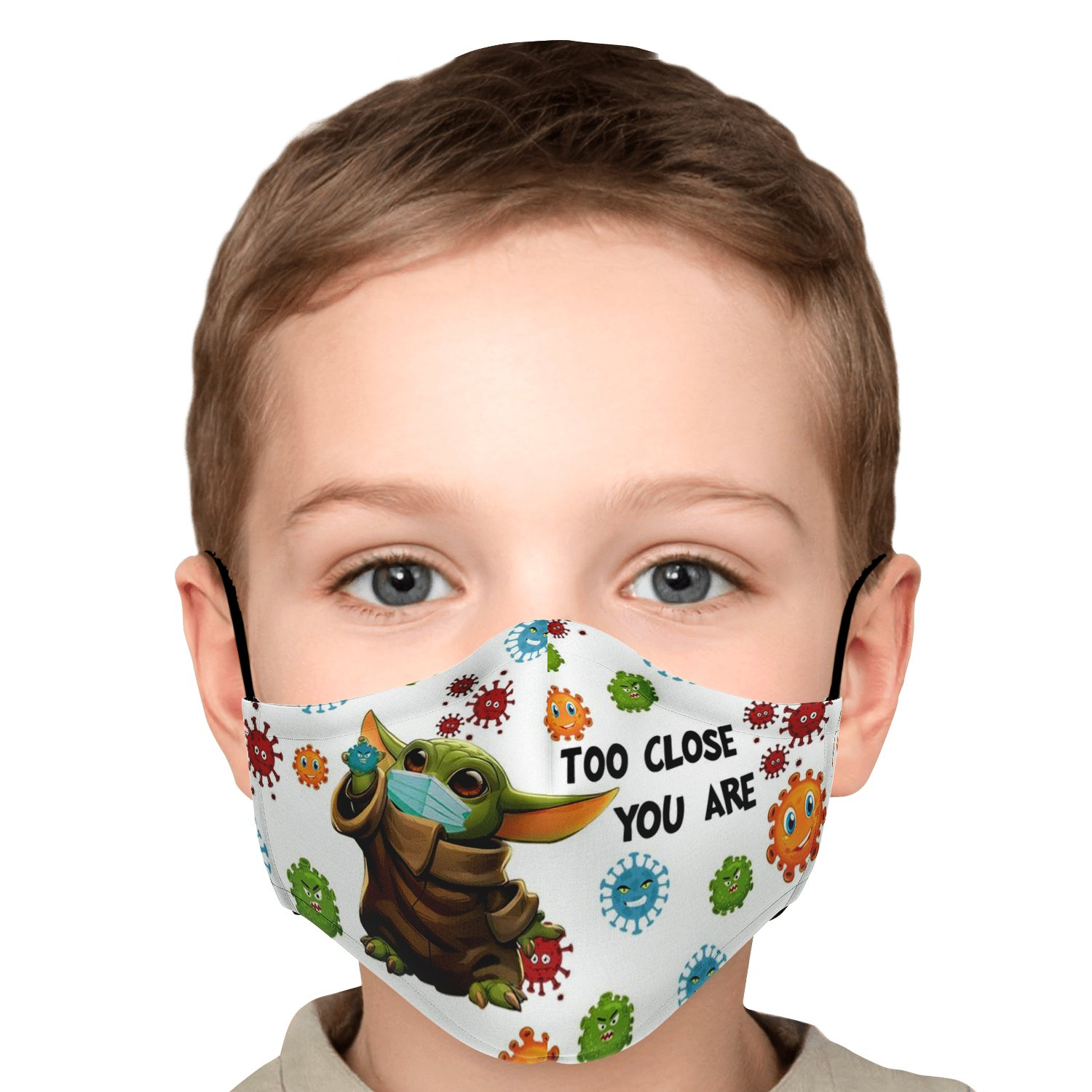 Too Close You Are Stay Away Covid-19 Baby Yoda Face Mask 6