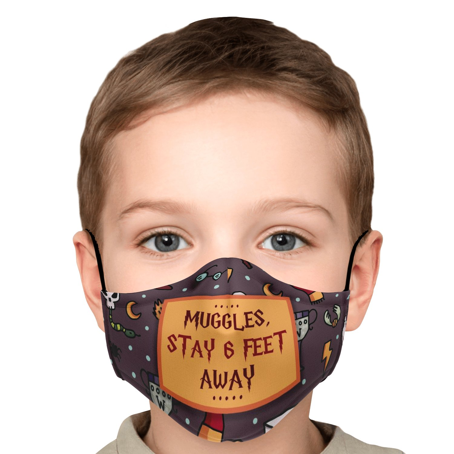 Muggles Stay 6 Feet Away Harry Potter Face Mask 6
