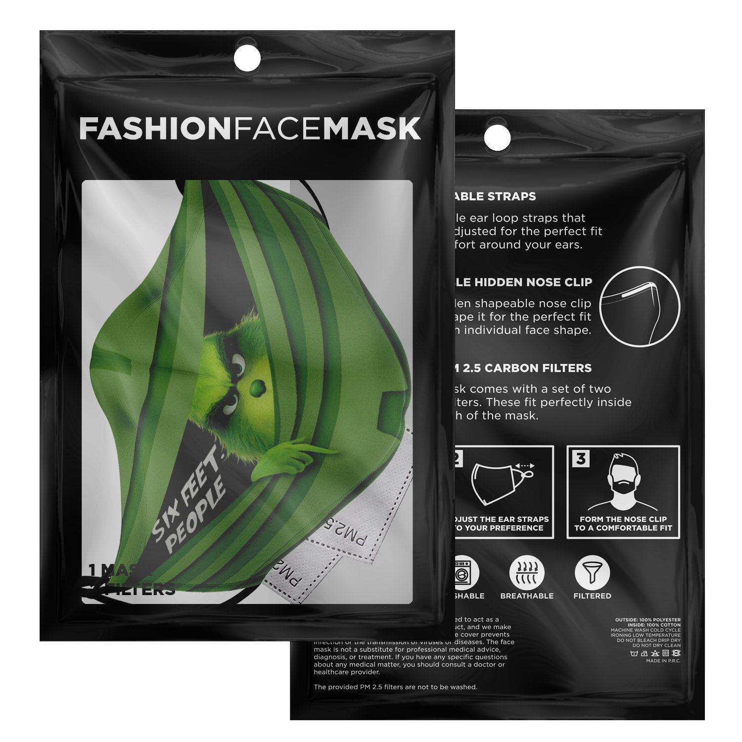 Six Feet People The Grinch Face Mask 3