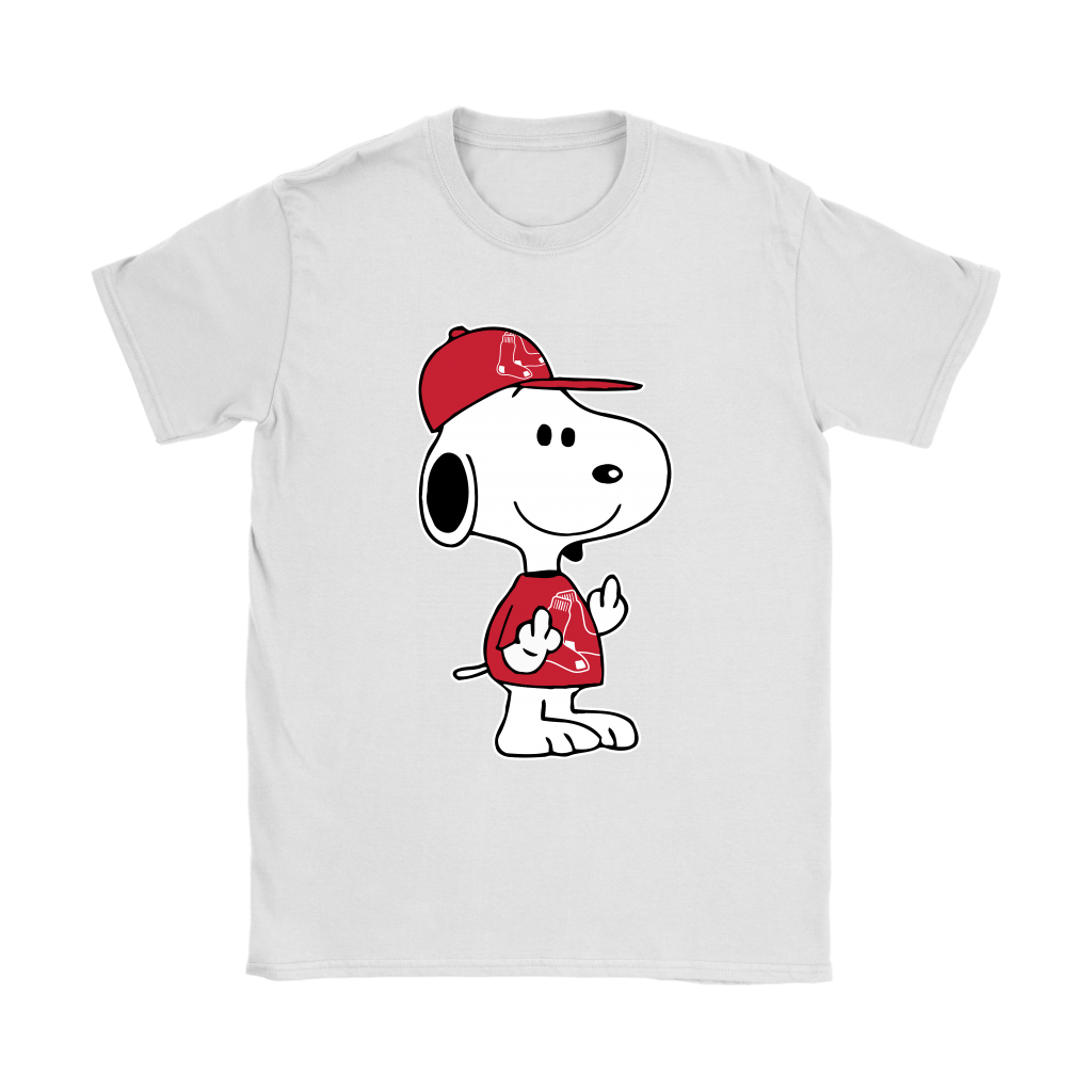 Boston Red Sox Snoopy Double Middle Fingers Fck You MLB Shirts 14