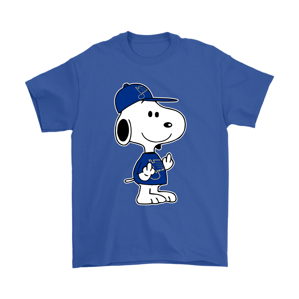 St. Louis Blues Snoopy Double Middle Fingers Fck You NHL Shirts 5