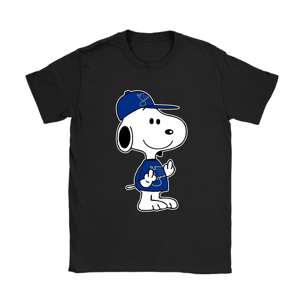 St. Louis Blues Snoopy Double Middle Fingers Fck You NHL Shirts 8
