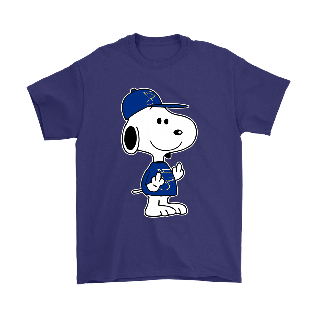 St. Louis Blues Snoopy Double Middle Fingers Fck You NHL Shirts 4