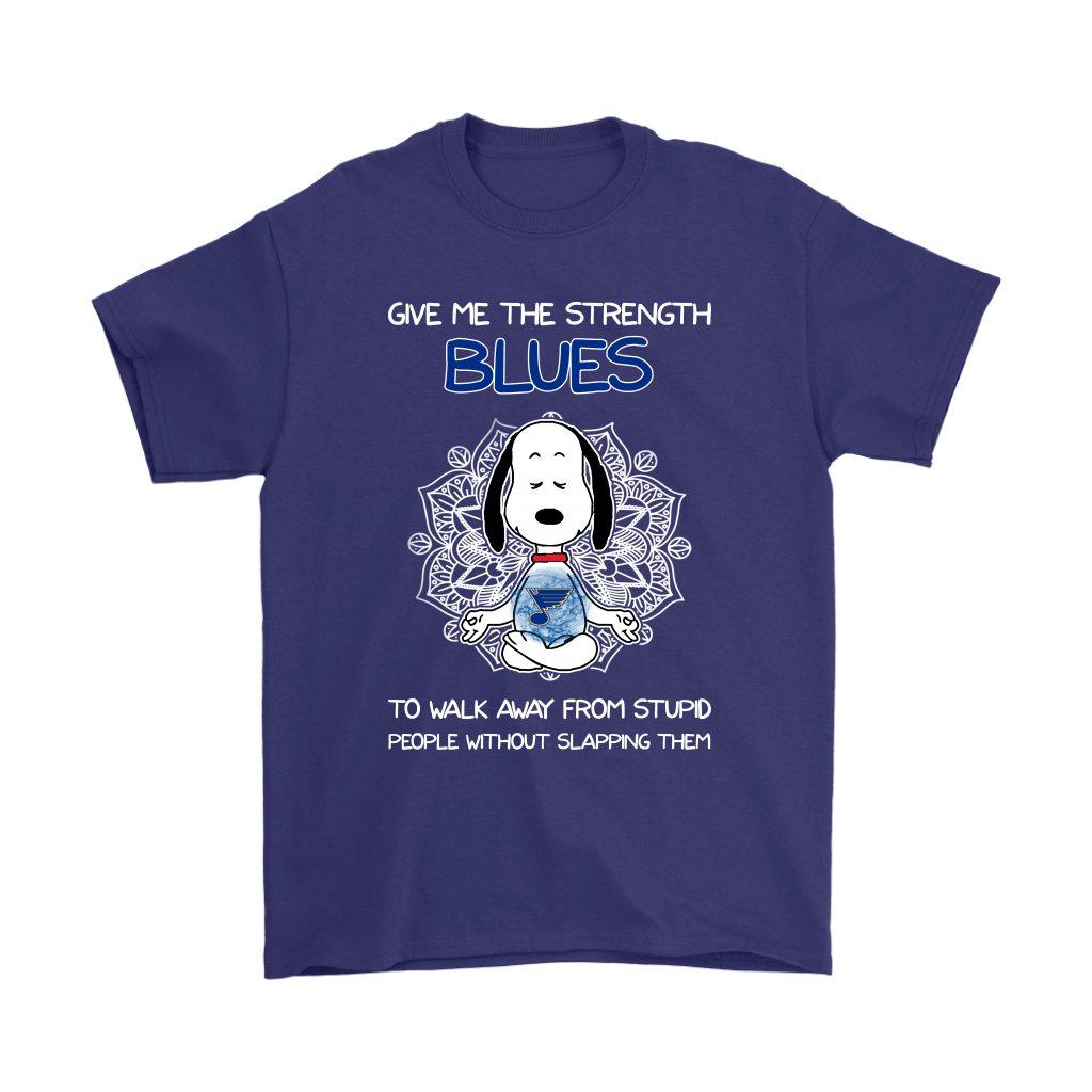 Give Me Strength St. Louis Blues To Not Slap People Snoopy Shirts 4