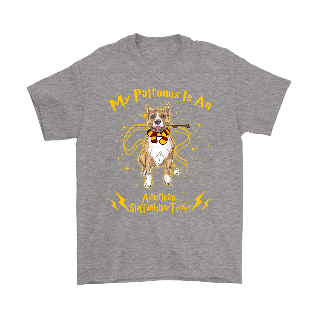 My Patronus Is A American Staffordshire Terrier Harry Potter Dog Shirts 7