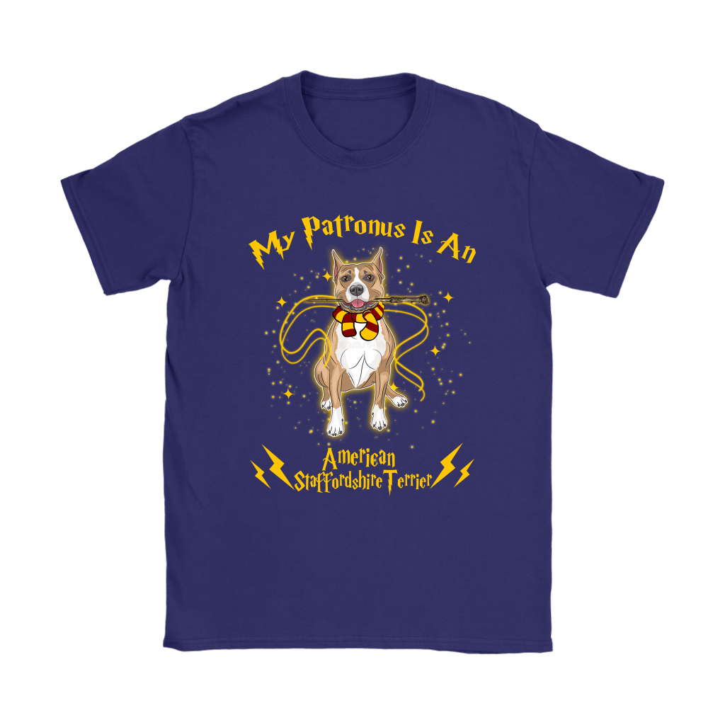 My Patronus Is A American Staffordshire Terrier Harry Potter Dog Shirts 11