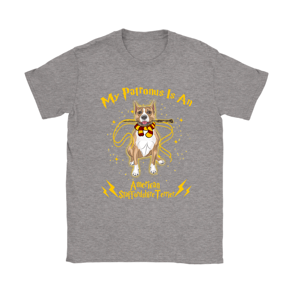 My Patronus Is A American Staffordshire Terrier Harry Potter Dog Shirts 14