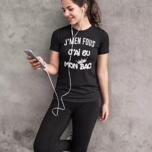 Teeshirt Femme - J'men Fous J'ai Eu Mon Bac
