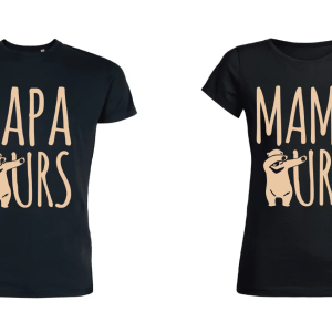 Teeshirt-couple---Papa-Ours---Mama-Ours
