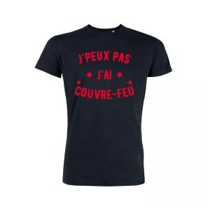 Teeshirt Homme - J'peux Pas J'ai Couvre Feu