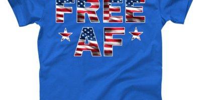 FREE AF American Pride USA T-Shirt, USA, USA T-Shirts