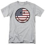 Smiley World - American Flag USA Face T-Shirt, USA, USA T-Shirt